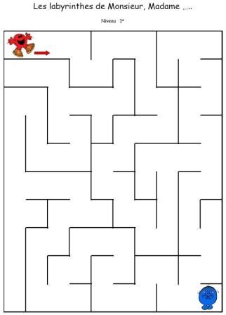 Les labyrinthes la maternelle de zette for Porte logique pdf