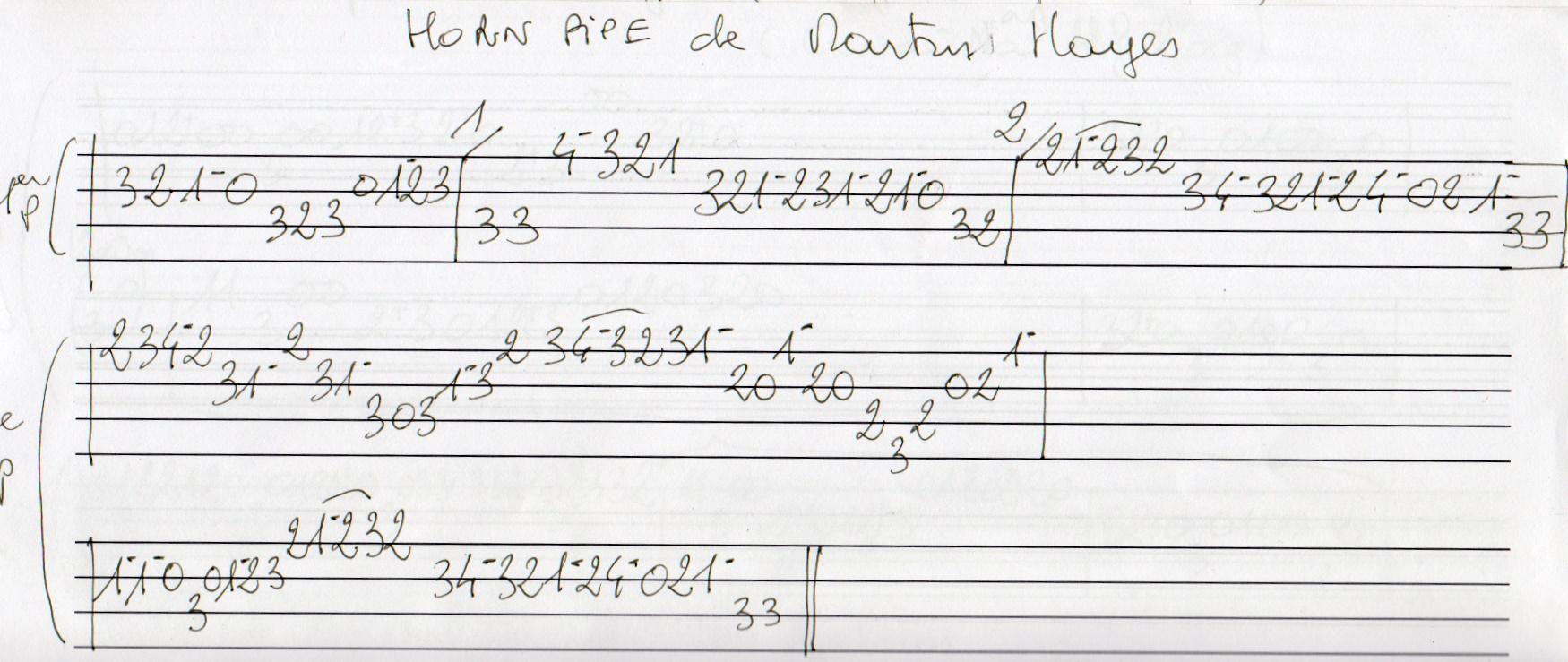 Un horn pipe de Martin Hayes
