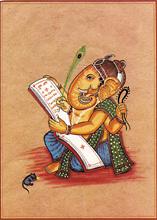 Ganesh, écrivain du Mahabharata, auspicieux